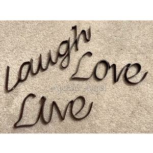 Live Love Laugh Wrought Iron Wall decor